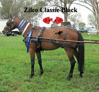 Zilco Black Classic Carriage Driving Horse Harness Std Collar Sliding Backband