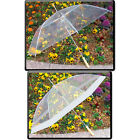"SET OF 2:  48"" Clear Auto Open Golf Umbrellas, All Clear or Clear & White"