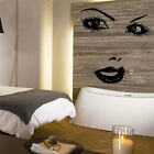 LARGE WOMAN FACE SALON LIPS BEDROOM WALL MURAL GIANT ART GRAPHIC STICKER  VINYL