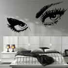 LARGE WOMAN EYES SALON LIPS BEDROOM WALL MURAL GIANT ART GRAPHIC STICKER  VINYL