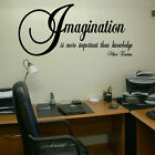 LARGE QUOTE IMAGINATION MORE IMPORTANT KNOWLEDGE EINSTEIN WALL STICKER TRANSFER