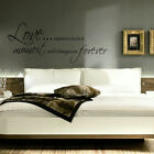 LARGE QUOTE LOVE CAPTURES US  IN A MOMENT WALL STICKER DECAL QUALITY CUT VINYL