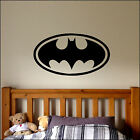 LARGE BATMAN LOGO CHILDRENS BAT BEDROOM WALL MURAL STICKER ART TRANSFER VINYL