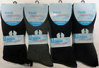 12 pairs Mens Non Elastic Socks Loose Top Comfort Grip Cotton Socks 6-11