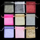40PCS ORGANZA WEDDING JEWELLERY FAVOUR GIFT BAGS PARTY POUCHES 10 MIXED COLOURS