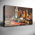 LAS VEGAS CITY SKYLINE NIGHT - GICLEE CANVAS ART