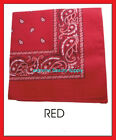 scarf paisley printed head SCARVES Biker wrap bandana NAPKIN pink red blue gray