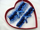 NEW Navy/Royal/Smoke Blue Garter SELECT (Single,Set,Reg,Plus Size, 30 Charms)