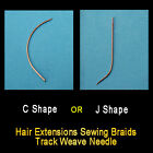 Hair Extensions Sewing Braids Track Weave Needle C-shaped or J-shaped