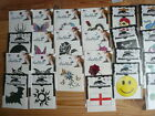 12 x Temporary Tattoo Black Sun Dragon Skull Flag Skateboard Tattoos ~ Random