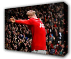 WAYNE ROONEY CELEBRATION MAN UNITED - GICLEE CANVAS ART