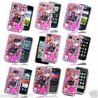 BARBIE SERIES DIAMOND BLING FLOWER RHINESTONE HOT PINK MOBILE PHONE CASE COVER
