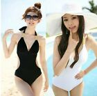 Women Backless One-piece Monokini Swimsuit Halter Pad Backless 7 color