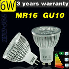 GU10 MR16 LED Bulbs 6W Spotlight Lamp High Power Light Bulb Day/Warm White UK