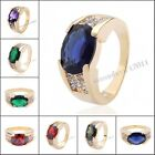 Luxury Men's 10KT Yellow Gold Filled Solitare Gemstone Ring Size 10 Gift