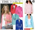 CANDY COLOUR TAILORED BLAZER LADY SUMMER SUIT COAT CARDIGAN JACKET BLOUSE TOP