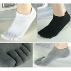 Socks 5Pairs Toe Low-cut Ankle No-show for Finger shoes Casual Loafer Fake