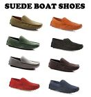 MENS SLIP ON BOAT DECK SHOES SUEDE LEATHER CASUAL MEN'S EVERYDAY COMFY LOAFERS