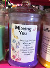 Personalised  ' Missing You '  Glass Jar Candle in 6 Scents
