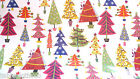 CHRISTMAS XMAS TREE WIPE CLEAN OILCLOTH COVER PVC TABLE CLOTH CO click for sizes