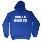 ARNOLD IS NUMERO UNO BODYBUILDING WORKOUT KIDS HOODED TOP HOODIE ALL COLS & SIZE