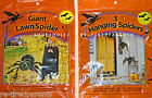 SPIDERS – HALLOWEEN – SCARY GIANT LAWN SPIDER or 3 SPOOKY HANGING SPIDERS – NIP