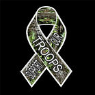 Support Our Troops Ribbon Camo Vinyl Decal Truck window sticker laptop 4x4 army