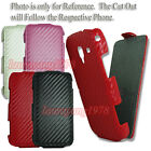 CARBON FIBER FLIP PU LEATHER HARD CASE COVER / SCREEN PROTECTOR for HTC DESIRE C