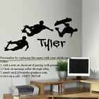 LARGE PERSONALISED SKATEBOARD  SKATE WALL TEENAGE MURAL STICKER DECAL TRANSFER