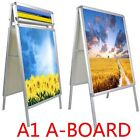 A1 A-Board  Pavement Sign Snap Frame Poster Display Stands Advertising Board
