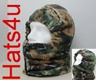 CAMO OR FOREST CAMOUFLAGE SNOOD ONE SIZE VERY WARM HAT CARP FISHING NEW
