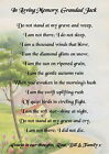 'Do not stand at my grave and weep' Memorial/funeral poem, personalised keepsake