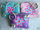 Namaste Bright Sequinned Zip Coin Purse/Key Ring Keyring Hand Made