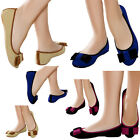 LADIES FLAT FAUX SUEDE CASUAL WOMENS BALLERINA SLIP ON PUMPS SHOES