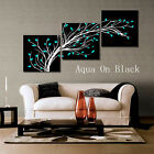 Artistic Tree Modern Decorative Art On Canvas Print Set Of 3 High Quality FRAMED
