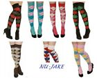 LADIES OVER THE KNEE ARGYLE CHECKED SOCKS SOX IN VARIOUS COLOURS GOLF THIGH HEN