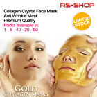 Collagen Crystal Gold Face Masks Anti Ageing Skin Care 1/5/10/20