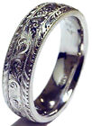 HAND ENGRAVED MEN'S PALLADIUM (PLATINUM GROUP METAL) 7MM WEDDING BAND RING NEW