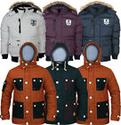 Mens  Soul Star Coat Jacket  Padded Puffer Fur  Hoodie - 2 Style-6 Colours