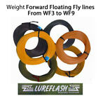 Lureflash WF Floating Fly Lines Choice of 7 sizes Hi vis yellow trout/game