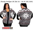 LADIES LARGE SIZE16-26 XL XXL XXXL KNITTED CARDIGAN JUMPER BLOUSE TOP SWEATER
