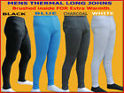 MENS ORIGINAL THERMAL BRUSHED LONG JOHNS UNDERWEAR BOTTOMS WARM