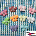 "(U Pick) Wholesale 50-500 Pcs. 1"" Padded 2-Layer Shiny Butterfly Appliques B0210"