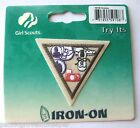 Retired Girl Scout Brownie HOBBIES TRY-IT Badge Patch Photgraphy Coin Collecting
