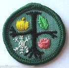 1963-1980 Girl Scout Junior OBSERVER BADGE Tree Seasons Patch CHOOSE Year Fabric
