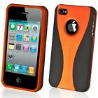 NEW STYLISH ORANGE GRIP SERIES HARD CASE COVER BUMPER FOR APPLE iPHONE 4  4G 4S