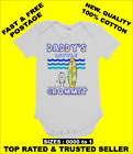 BABY ONE PIECE  ROMPER. ONESIE. printed with DADDY'S LITTLE GROMMET brand new