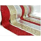 """1 yard 1.5"""" 38mm wide SPARKLE GLITTER RIBBON RED, SILVER, GOLD, BLUE,WHITE, PINK"""