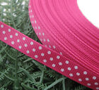 "3/8"" Upick 5y Lot Color Grosgrain Ribbon Print Dots Appliques/Craft/Wedding R850"