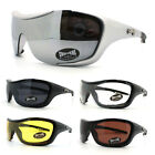 Chopper's Goggle Shield Warp Around Padded Motorcycle Sunglasses New (6 Colors)